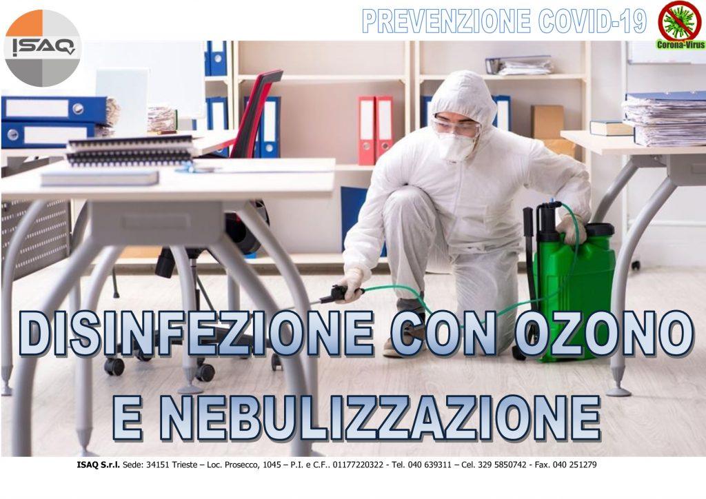 Dezinfekcija prosotov z ozonom in nebulizacijo ražil